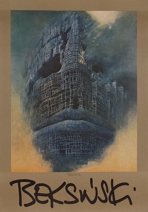 Aukcja 23 05 2006 Beksiński Plakat Autorski Z Reprodukcją